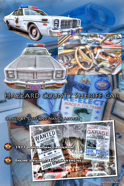 Car Poster Blue Portiat Sheriffs Car