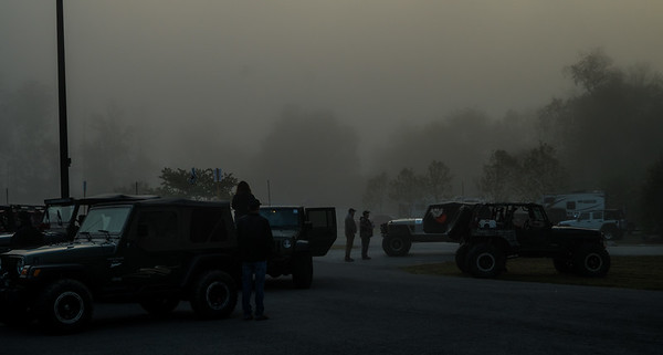 Foggy day to see all the Jeeps in one spot