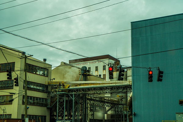 Factory in a small town