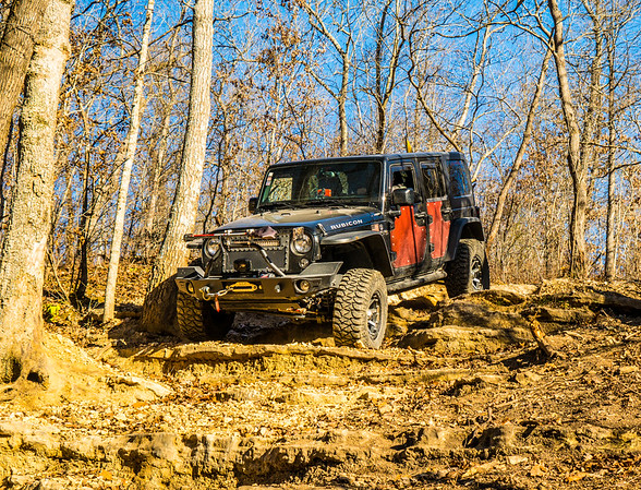 Earl was the only other with a JKU - Learned a ton watching his lines, him guiding, and picking his brain about his build