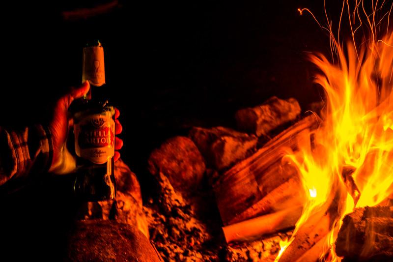 Beer and bonfire? Winning :)