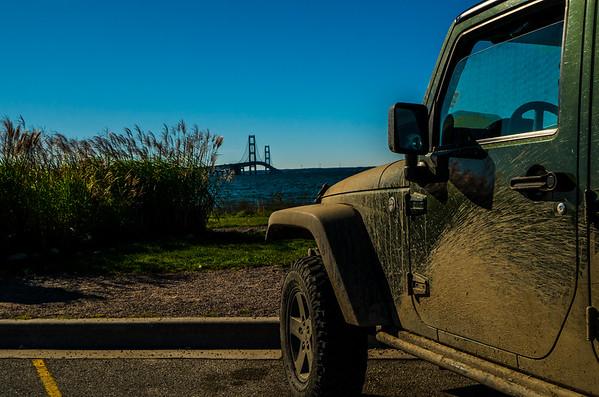 Drove down to the Mackinac Bridge