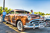 1951 Hudson Hornet at the Cars & Coffee at Wegman's on Route 57 in Liverpool, New York on Saturday, July 7, 2018.