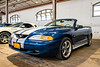 1997 Ford Mustang GT Convertible inside the Dairy Cattle Building of the Syracuse Nationals at the New York State Fairgrounds in Syracuse, New York on Saturday, July 20, 2019.
