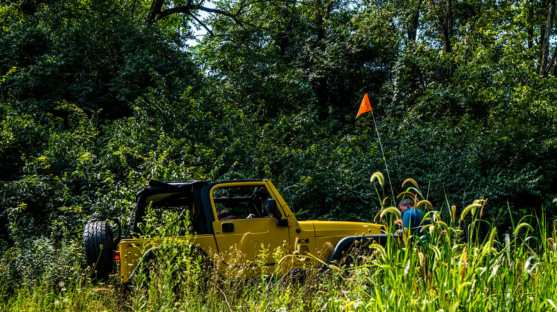 Off the trail not to get it up to the parking lot to repair or get on the trailer and deal with it when they get home.