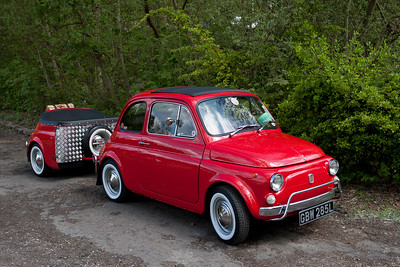 1972 Fiat 500 and Matching Trailer