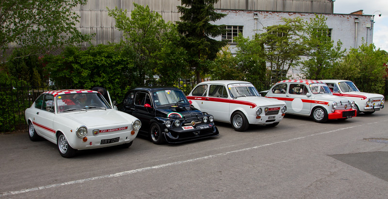 Line-up of Abarth Cars