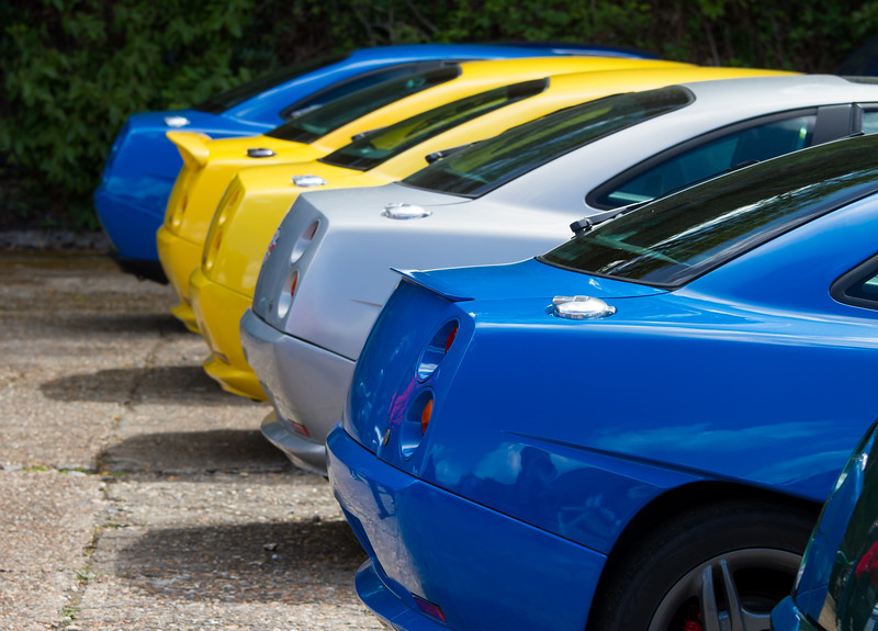 Line of Fiat Coupe's