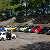 Fiat 500's on the Brooklands Banking