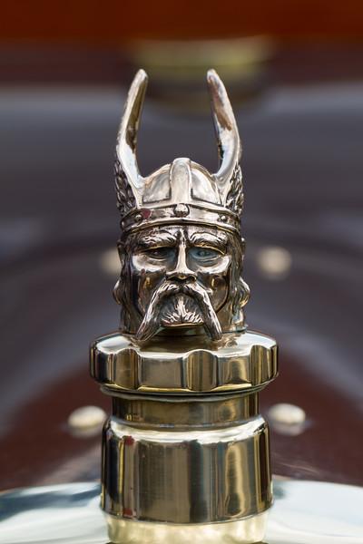 Rover Viking Head Car Mascot