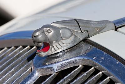 Lion Emblem on a 1937 Peugeot 402