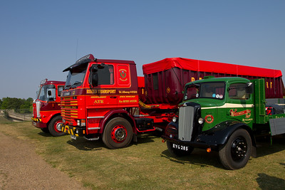 1946 - Morris-Commercial CVF Dropside Lorry and 1984 - Scania 112M  tractor unit