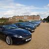 Line-up of Aston Martins