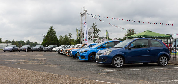 Line of Ford RS Cars