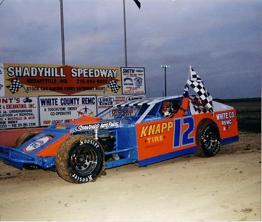 Gary Sheffer at Shadyhill Speedway, Medaryville, Indiana