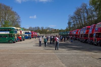 Line-up of Double-decker Buses