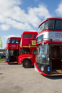 2012 - Wrightbus LT2 New Routemaster Double-decker Bus and 1960 - AEC Routemaster Double-decker Bus - RM54