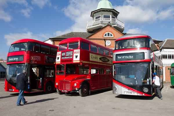 2012 Wrightbus LT2 New Routemaster Double-decker bus / 1960 AEC Routemaster Double-decker bus