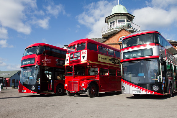 2012 - Wrightbus LT2 New Routemaster Double-decker Bus and 1960 - AEC Routemaster Double-decker Bus -RM54