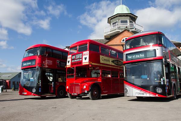2012 Wrightbus LT2 New Routemaster Double-decker Bus and 1960 - AEC Routemaster Double-decker Bus -RM54