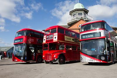 2012 - Wrightbus LT2 New Routemaster Double-decker Bus and 1960 - AEC Routemaster Double-decker Bus -RM54