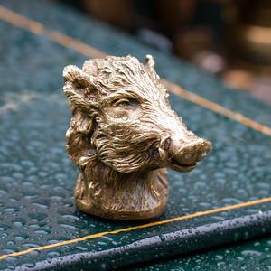 Boar Head Mascot on a 1904 Cadillac 8.25hp Surrey Body