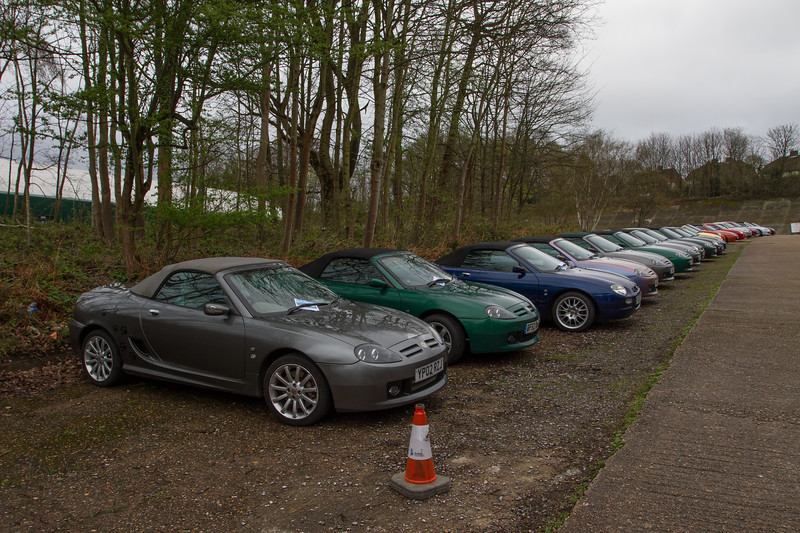 Line-up of MG MGF