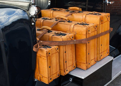 Suitcases on Taxi