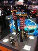 AST 5200 inverted shocks for 997 Porsche GT3 in the Moton/AST booth