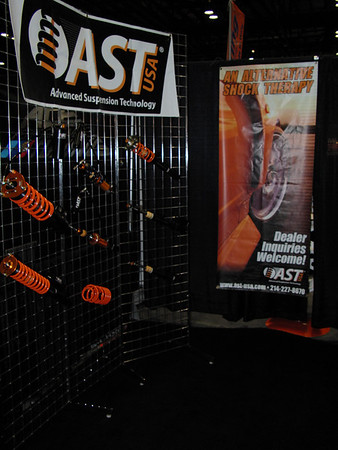 The AST booth (left side)
