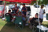 The AST tent was crowded all day - mostly for the shade and ice cold water.