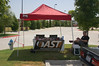 The AST tent (before we moved it closer to the action)
