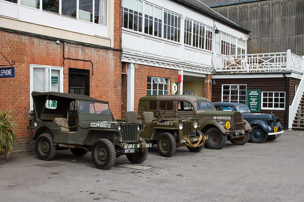 Line of Military Vehicles