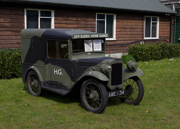 "1933 Austin Seven Light Van; Reg AME 534; Autogopasta;  Home Guard Van  ""23rd Sussex Home Guard"""