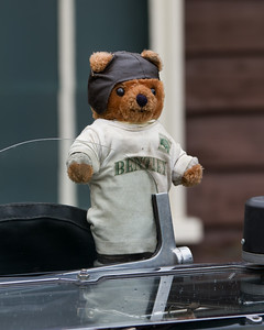 Teddy Bear on 1929 - Bentley 4½ Litre