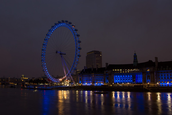 The London Eye and County Hall from Westminster bridge