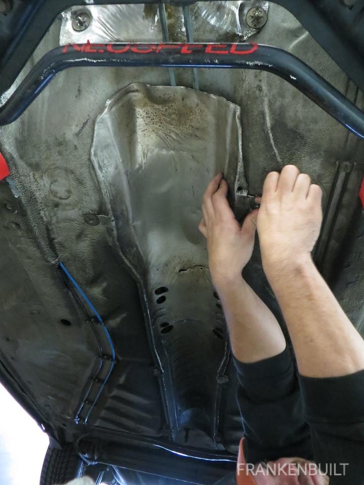 FRANKENBUILT_VW_Jetta_MKII_TDI_Swap_Installing_Exhaust_Heat_Shield
