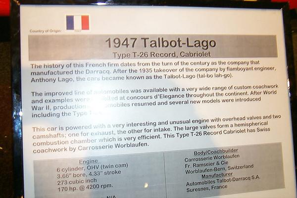 1947 Talbot Lago Type T-26