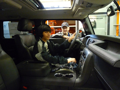 JJ in the Hummer