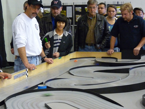 JJ on the slot cars
