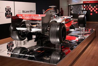 McLaren MP4-21 (2006) - exhibited in 2009 livery for Lewis Hamilton.