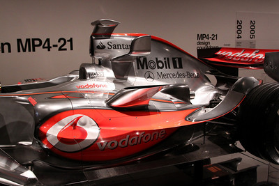 McLaren MP4-21 (2006) - exhibited in 2009 livery for Lewis Hamilton.