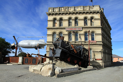 SteamPunk building next door to the car museum, Oamaru Victorian Precinct.