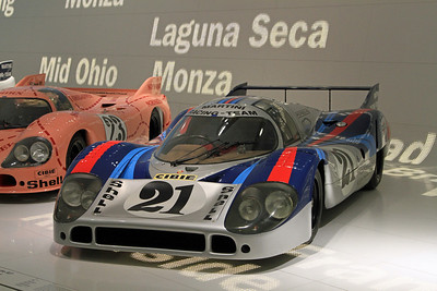 "Porsche 917 - Martini Racing (with the ""Pink Pig'"" in the background)."