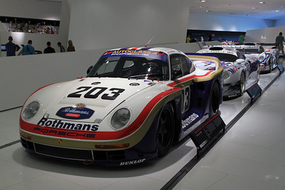 The Porsche 961 as it appeared for the 1987 24 Hours of Le Mans.