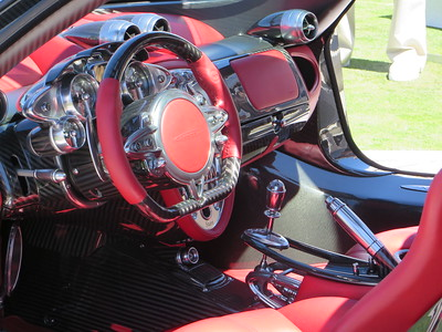 The interior of the Huayra