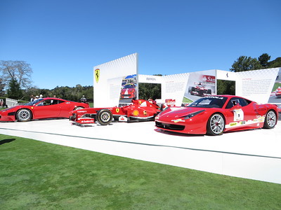 Cool display for some racing 458's and F1