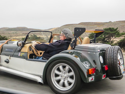 There's always one guy driving in a convertible freezing on the way in.