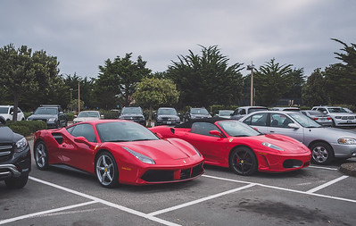 The Inn at Spanish Bay... always a good place to start..  Ferrari 488 and 430