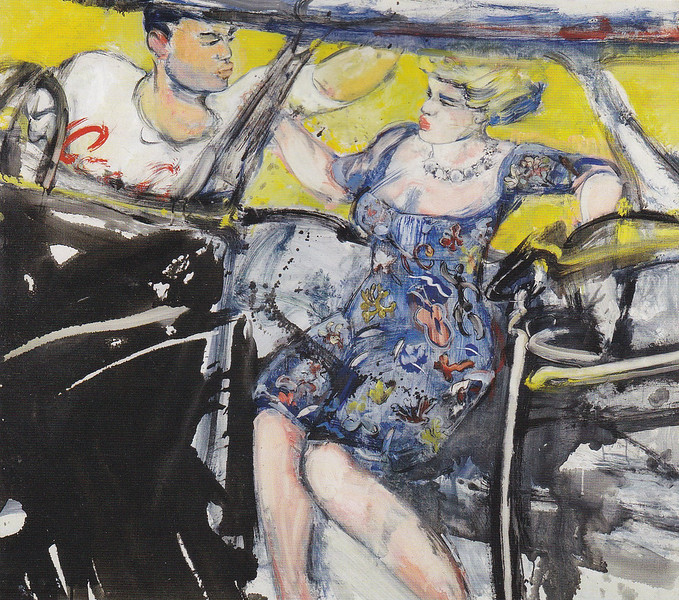 Peter McLaren, Car Couple, Oil on Board 48 x 42 inches